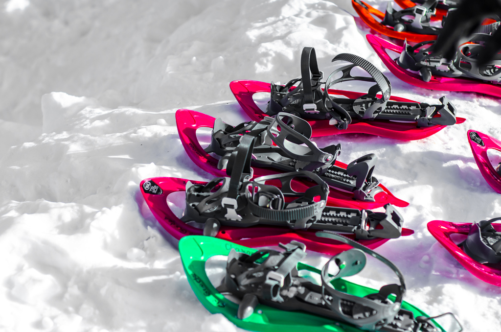 Snow shoes waiting for feet