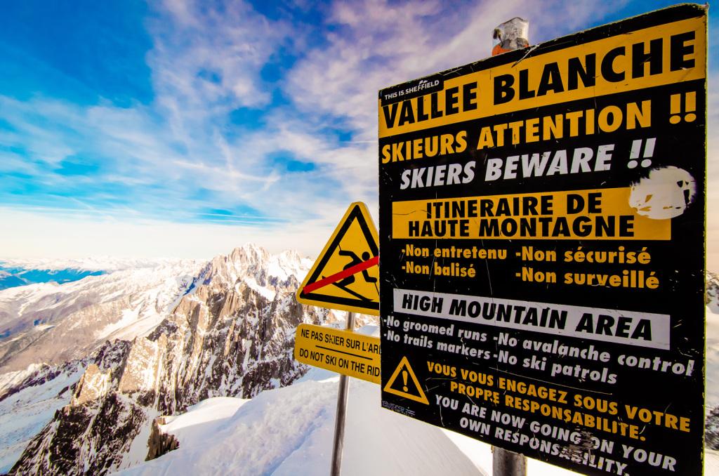 Skiers Beware - the Summit Aiguille Du Midi -