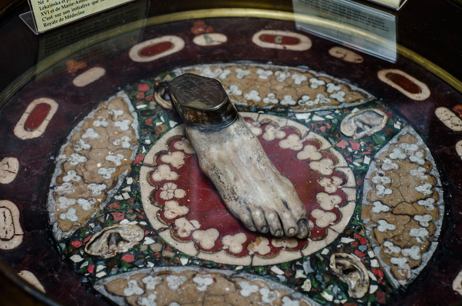Napoléon III's table made of petrified brains, blood, bile, liver, lungs and glands.