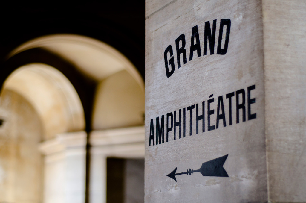 Marked path to the Grand Amphitheatre