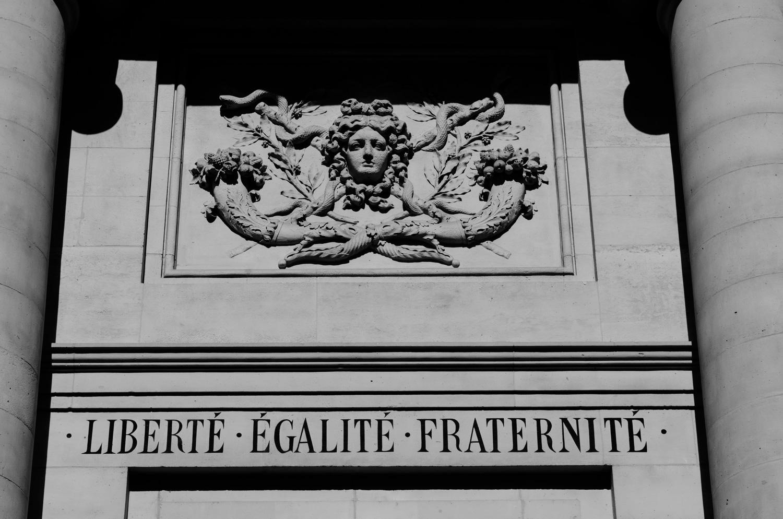 The facade of the Paris Descartes University