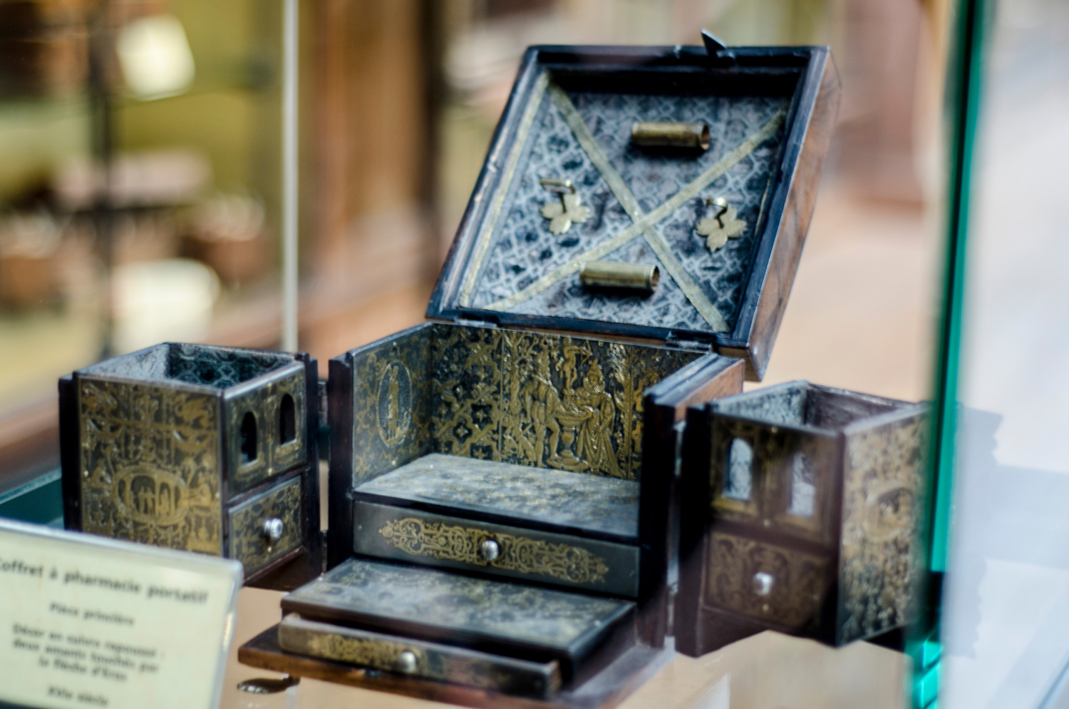A Family Medical kit box from the seventeenth century.