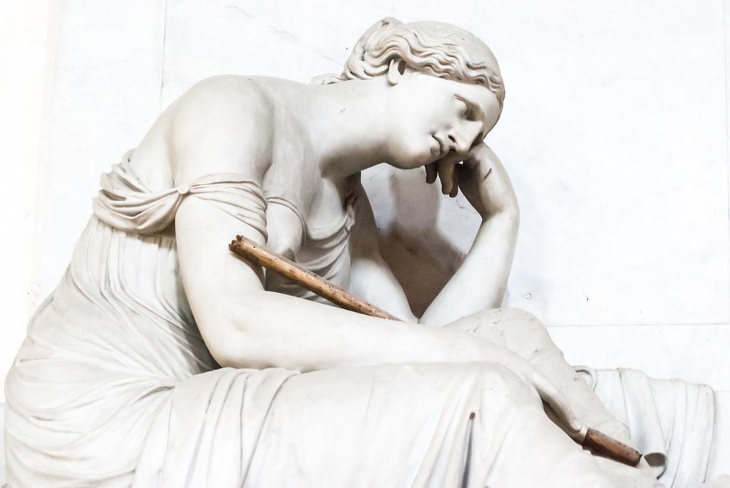 A woman Grieving for Pompeio Iosephi