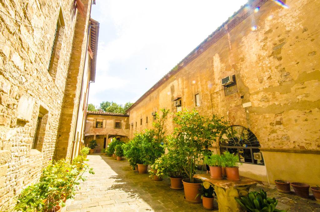 A small interior courtyard