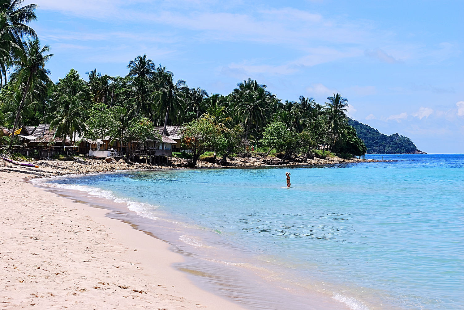 Lonely Beach on the island of Koh Chang in Thailand