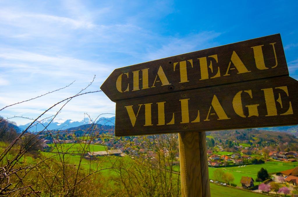 Village signs in Menthon-St-Bernard