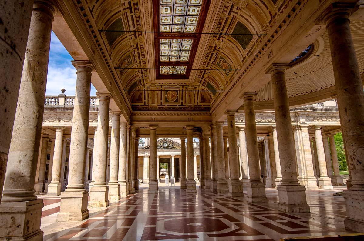The colonnade in Montecatini Terme Tettuccio