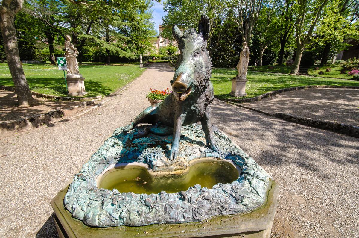 An intriguing Boar or hog sculpture.
