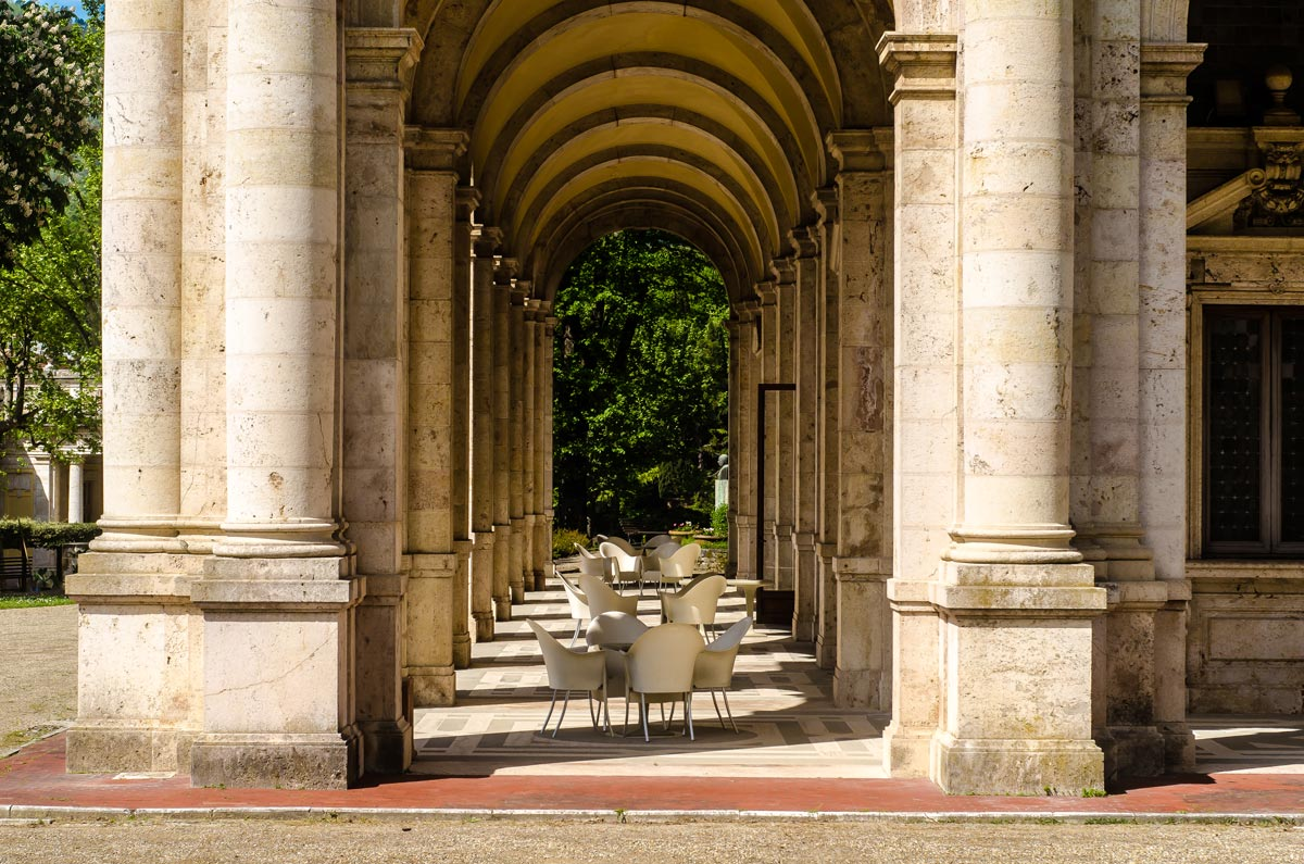 Another part of the colonnade in Terme Tettuccio