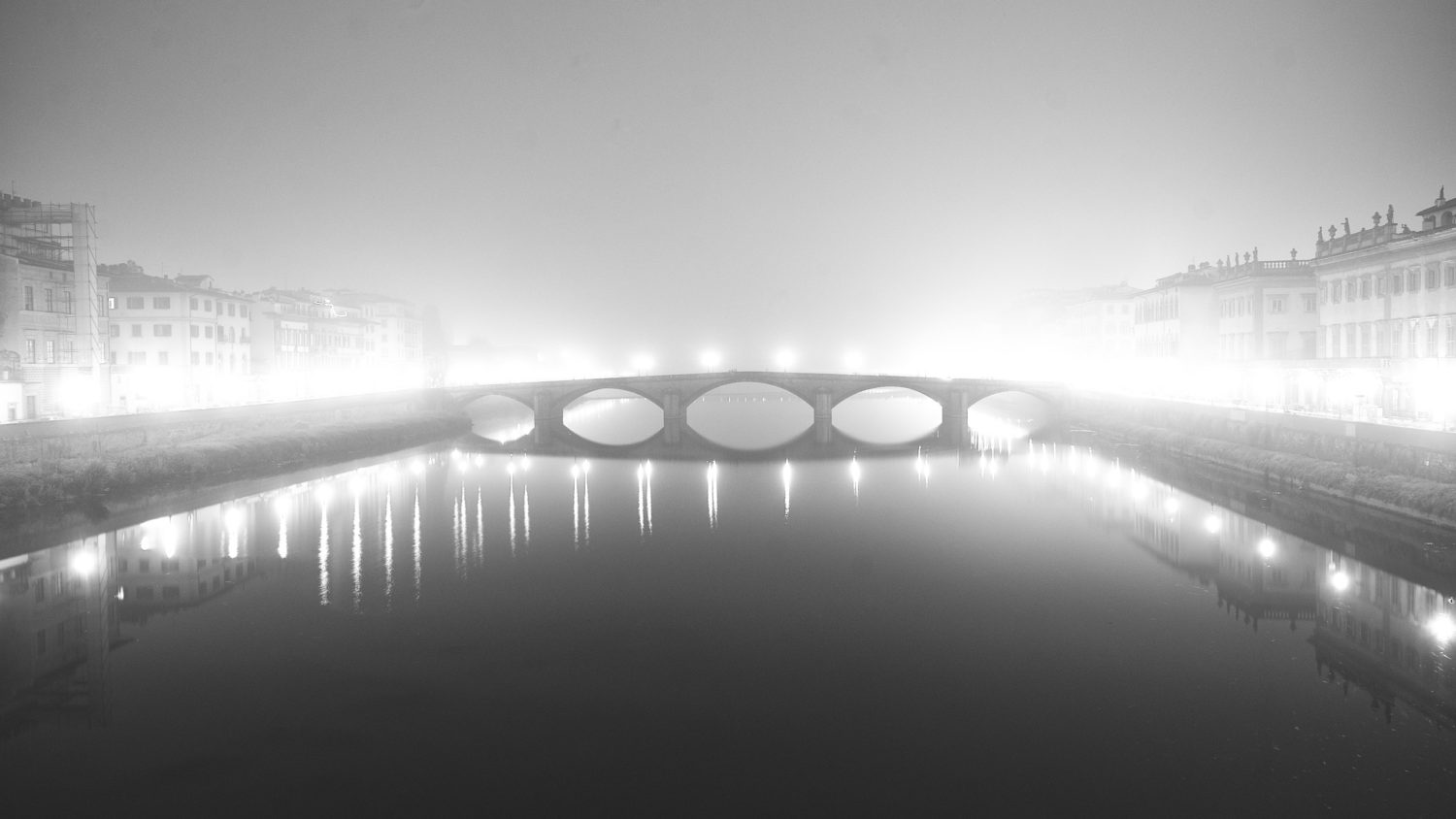 Ponte alla Carraia in Florence in Black and white